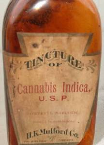 Tincture of cannabis indica
